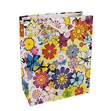 """50 Lacktragetaschen Groß 32 cm x 26 cm x 13 cm """"Blumen"""" Party Papstar"""
