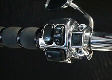 """AIR RIDE"" for Harley  GRIP SWITCH   (Chrome)"