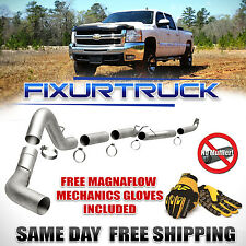 "Magnaflow 5"" Down Pipe Back Exhaust For 01-10 GMC Chevy Duramax 6.6L FREE GLOVES"