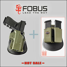 Fobus OD Green Holster w/ FREE Double Magazine Pouch for Glock 17 19 -GL2G 6900G
