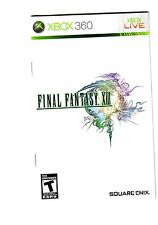 REPLACEMENT french manual ONLY (NO GAME) for Xbox360 FINAL FANTASY XIII