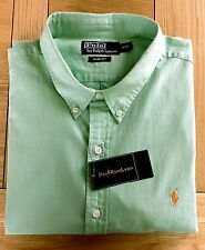 BNWT Polo Ralph Lauren Slim Fit Sherbet Green Chambray Shirt
