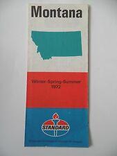 1972 Standard Oil Montana Vintage Road Map Winter Spring Summer EVC