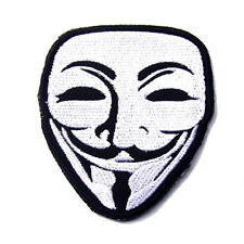 NOVELTY ANONYMOUS V FOR VENDETTA GUY FAWKES MASK TACTICAL MORALE SWAT HOOK PATCH