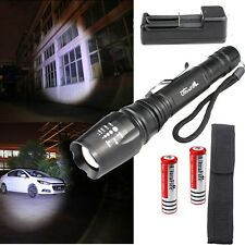 4000LM XM-L T6 LED Zoomable Flashlight Torch Lamp Light 18650Battery Charger F04