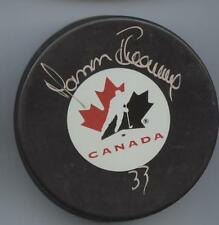 MANON RHEAUME SIGNED TEAM CANADA HOCKEY PUCK w/ COA
