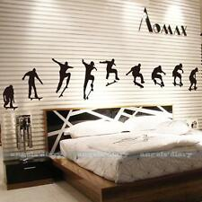 Skateboard Sport Removable Vinyl Art Wall Sticker Mural Decal DIY Home Decor