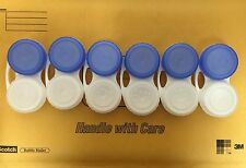 Contact lens case - 6 PACK   NEW B & L Blue & White cases
