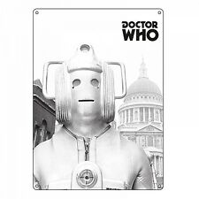 Doctor Who Cyberman large metal sign 400mm x 300mm (hb)