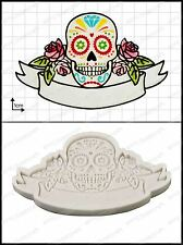 Silicone mould Sugar Skull | Food Use FPC Sugarcraft FREE UK shipping!