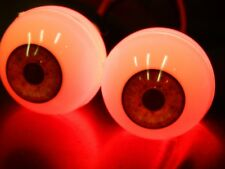 Halloween Prop - Realistic Acrylic Eyes with Leds - kit for Skulls, Masks, Props