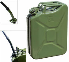 Jerry Can 5 Gallon 20L Gas Fuel Army NATO Military Metal Steel Tank Prepper