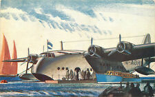 Empire Flying Boat ~IMPERIAL AIRWAYS~ Rare & Original ART DECO Postcard, 1936