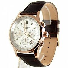 New Sekonda Rose Chrono Mens Leather Watch 3847 RRP £79.99