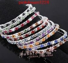 Factory Outlet Price Lot 30Pcs Fashion 1 Row Colors Crystal Rhinestone Bracelet