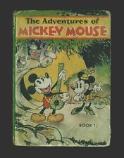 David Mckay Co.Walt Disney's Adventures Of Mickey Mouse 1931 HC GVG 3.0 US ONLY!