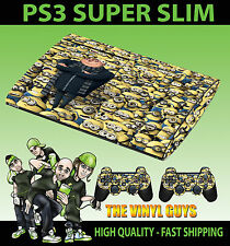 PLAYSTATION PS3 SUPER SLIM DESPICABLE ME MINION COVER SKIN STICKER & 2 PAD SKIN
