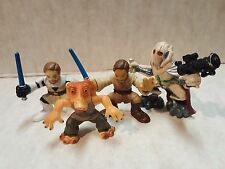Star Wars Galactic Heroes Two Obi Wan, Grievous & Jar Jar Action Figures Hasbro