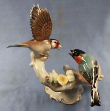 Distelfink gegen Dompfaff Vogel porzellanfigur porzellan figur Hutschenreuther