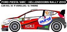 DECALS 1/43 FORD FIESTA WRC #10 -VERSLUIS - HELLENDOORN 2013 - MF-ZONE D43249