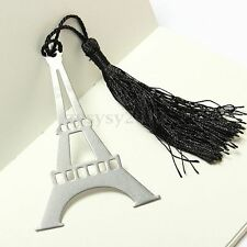 1 Pcs New Eiffel Tower Alloy Bookmark Creative Exquisite Tassel Box Hot Sale
