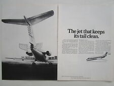 4/1973 PUB VFW FOKKER AIRCRAFT HOLLAND FOKKER F28 AIRLINER F27 TAIL ORIGINAL AD