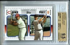 2010 Topps #LL74 Johnny Bench/Buster Posey Rookie BGS 9.5 GEM MINT