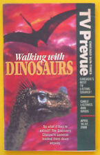 Discovery Channel WALKING WITH DINOSAURS Chicago TV Prevue guide Apr 16 2000