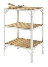 "Greenhouse Staging / Bench Wooden Three Tier 18"" Wide x 2ft Long Aluminium"