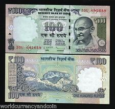 INDIA 100 RUPEES 2012 2013 GANDHI NEWSYMBOL MOUNTAIN UNC CURRENCY MONEY BIL NOTE