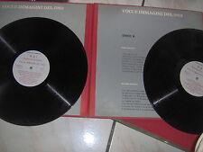 2 LP VOCI E IMMAGINI DEL 1963  RAI FUORI COMMERCIO PIAF GABER FELLINI 8/2 UNICO