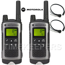 10Km Motorola TLKR T80 Walkie Talkie Two Way Radio Skiing & Go Karting Twin Pack