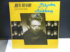 "MAXI 12"" BRYAN ADAMS Run to you AMS 12 9799 Tampon ""PROMO"" derriere"