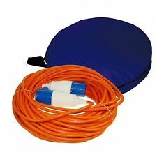 Maypole Camping Caravan 25m 230V Extension Cable Lead & Bag Electric Main Power