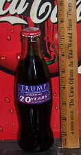2004 TRUMP HOTEL & CASINO RESORTS CELEBRATING 20 8 OZ GLASS COCA - COLA  BOTTLE