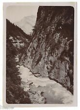 C873 Photographie originale ancienne 1910 La Tamina Ragatz Suisse