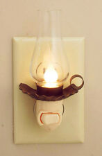 Penns Grove Lantern Night Light w Chimney Vintage Inspired Farmhouse Primitive