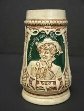 Early 20th C German Art Nouveau Beer Stein, Immer Justig Und Fidel, Bavarian Man