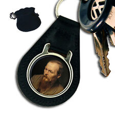 FYODOR DOSTOYEVSKY RUSSIAN WRITER LEATHER KEYRING / KEYFOB