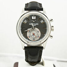 Patek Phillipe 40.5mm Annual Calendar Platinum Watch 5960P With Box & Papers