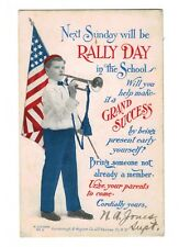 Oct 11 1908 Rally Day in School Post Card Oxford NJ Miss Marie Tunison Americana