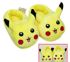1pair Pikachu cartoon Plush Stuffed Slippers household Slipper Cotton shoes N-21