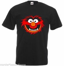 Mens animal T-shirt MUPPETS TOP Black top fashionable XXL FUNNY HUMOUR