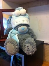 Me To You 14 Inch Winter Grey Beanie Bear With Bobble Hat And scarf