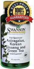 Full Spectrum Astragalus, Korean Ginseng & Green Tea 60 Capsules Swanson
