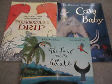 3 BOOKS ~TYRANNOSAURUS DRIP  THE SNAIL & THE WHALE  CAVE BABY by JULIA DONALDSON