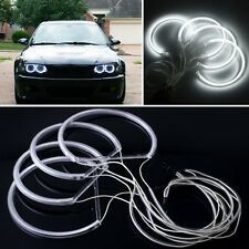 4X Angel Eye Halo Light CCFL Headlight For BMW E46 Series White Non-Projector