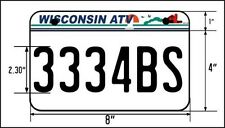 Wisconsin ATV License Plate