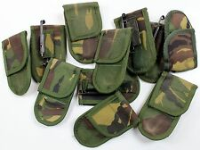 GENUINE DUTCH ARMY BELT POUCH FOR POCKET KNIFE in WOODLAND CAMO