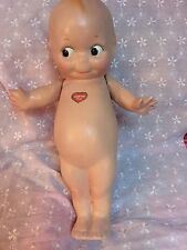 """Antique 12"""" Early US Patent Composition Kewpie w/Heart Label with  Reg U.S. Pat"""
